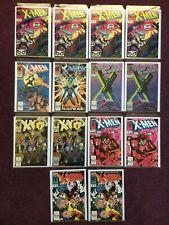 Uncanny X-Men Lot 14 Issues including Keys 248, 251, NM, NM+ Jim Lee