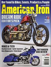 American Iron Motorcycle Magazine Issue 346 (2017) Bagger Ride Review-Bikes&Tech