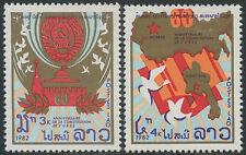 LAOS N°446/447** fondation de l´URSS , 1982 constitution of USSR SC#427-428 MNH
