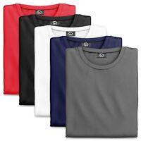 5 Pack Plain Crew Neck T Shirts Mens T Shirts Plain Cotton Black White Blue Grey