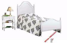 CLÁSICA cama individual blanco elegante lamentable con cabecera de madera y el e