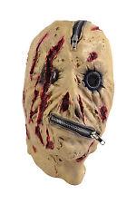 Dead Zipper Zip Face Decker Halloween Full Face Horror Fancy Dress Mask