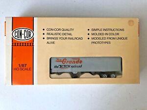 Con-Cor #4-008115 HO 40' Piggyback Box Trailer (3 pack) - Rio Grande w/box-EC
