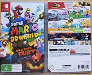 Super Mario 3D World + Bowser's Fury AUS Cover Switch NEW & OPENED FREE Express