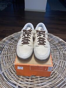 Nike Dunk Low Premium Hemp Brown Shoe Size 9 Preowned