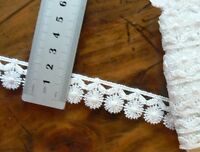 Guipure Daisy Lace PEARL WHITE 20mm wide 2 Metre Lengths - L30909 Astor Buttons