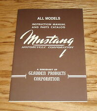 1950-1965 Mustang Motorcycle All Model Owners Operators Manual Parts Catalog