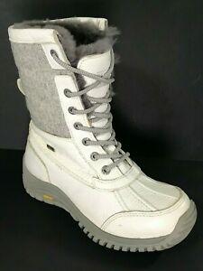 UGG 1003608 Leather Event Vibram Waterproof  Boots Size 6.5 White/gray