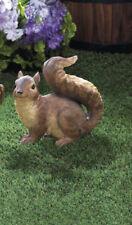 small brown Squirrel patio deck rail outdoor garden statue yard art