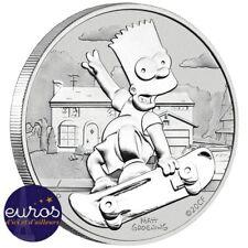 TUVALU 2020 - 1 dollar TVD - Les Simpsons™, Bart - 1 oz argent 999‰ BullionCoin