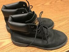 """Timberland 10910 Black Suede 6"""" Casual Unisex Winter Fashion Youth Boots Sz 4.5"""