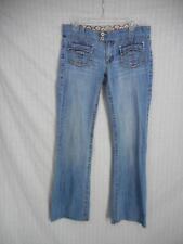 DEPARTMENT OF PEACE sz 11 Denim Jeans 32 x 32 Stretch Lowrise Straight flap G29