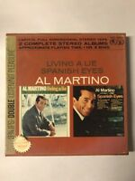 Al Martino Reel to Reel Tape Living a Lie Spanish Eyes 2 Complete Stereo Albums