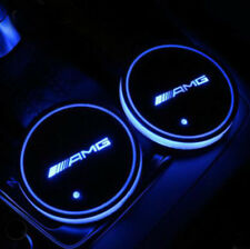 Colorful AMG LED Car Cup Holder Pad Mat for Mercedes-benz Auto Atmosphere Lights