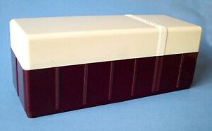 Maroon + Cream Library Box / Storage Case for Storing View-Master Reels Ex Cond