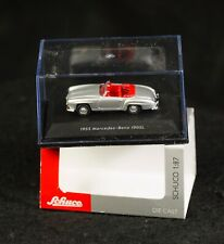 SHUCO MICRO DIE CAST HO 1/87 MERCEDES-BENZ 190 SL CABRIOLET 1955 NEW IN BOX