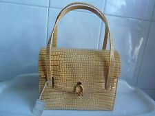 Vintage NEW COBLENTZ Alligator Pattern Dress Purse NWT Tag Beautiful Maize Color