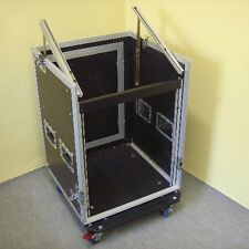 12/10HE Winkelrack Kombicase L-Rack Spezial-Kombi-Case Profi, 12 HE, rollbar NEU