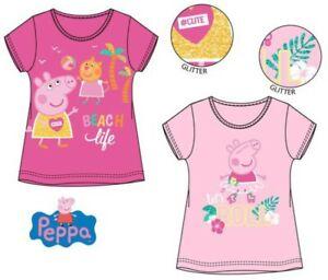 Girls Kids Children Peppa Pig Short Sleeve T-shirt Tee Tshirt Top Age 2-6 years