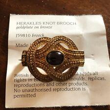 Gold Plate On Bronze & Stone British Museum J59810 Herakles Knot Brooch