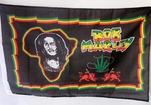 Bob Marley Flag Large Africa Unite Rastafari Reggae Flag