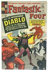 FANTASTIC FOUR # 30 RAW Marvel - 1st app of DIABLO - Ad for SPIDER-MAN ANNUAL #1
