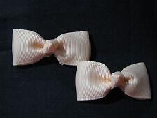 baby girl hair accessories petal peach bow clips small
