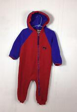 LL BEAN Fleece Snowsuit Toddler Baby 12-24 Months