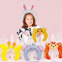 5pcs Jungle Animal Headwear Balloon Kids Inflatable Headband Birthday Party Toys