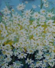 NEW ORIGINAL MARTIN STONE Wild Daisies West Cork IRELAND IRISH LIFE OIL PAINTING