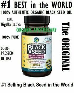 AMAZING HERBS Black Seed Oil SOFTGEL Capsule Nigella sativa Cumin 500mg 90 count