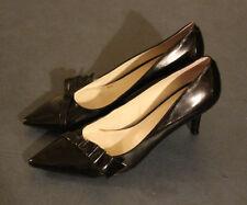 NINE WEST Women's AVANTGAFF Black Patent Classic Pumps Heels Shoes 6.5M