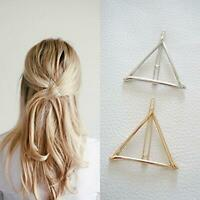 2pcs Geometric Hair Clips Women Triangle Barrettes Hairpins Jewelry Gift