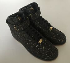 Golden State Warriors Air Force 1 Nike ID Cork Premium Shoes AH5806-994 Size 9.5
