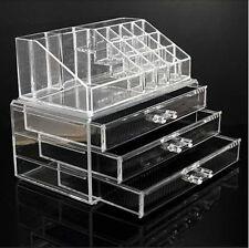 Cosmetic Organizer Acrylic Make Up Drawers Holder Case Box Jewelry Storage Clear