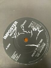 "Rare Hand Signed ""The Imposter"" ELVIS COSTELLO PEACE IN OUR TIME UK 7"" 45 1984"