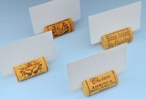 Wine Cork Place Card Holders used for Weddings – Parties, and any event