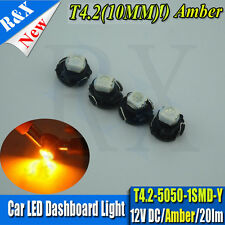 4 X Amber T4.2 Neo Wedge  SMD LED Twist Lock LCD Dash Cluster Switch Gauge VT VX