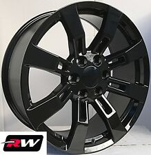 "20"" inch 20 x8.5"" Wheels for Chevy Avalanche Gloss Black Denali CK375 Rims"