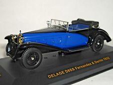 IXO DELAGE D8SS FERNANDEZ & DARRIN 1932 BLACK/ BLUE 1/43 MUS046