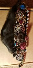 Betsey Johnson skull and spider necklace