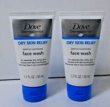 2 Pack Dove Derma Series Dry Skin Relief Face Wash 1.7 oz each Fla