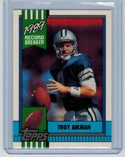 1990 90 TROY AIKMAN TOPPS 1989 RECORD BREAKER TIFFANY #3 COWBOYS