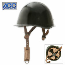 WWII Style Hungarian Military War Helmet Solid Steel Construction Leather