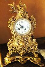 MUSEUM SAMMLER KAMINUHR PENDULE Messing Bronze feuervergoldet antik Barock Empir