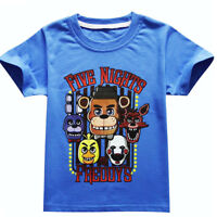 Kids Boys Five Nights at Freddy's FNAF Clothing Short Sleeve T Shirt 4-12Y Gifts