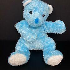"""Ty Blue Bear Plush Cuddlecub Rattle Pillow Pal 12"""" Cub 2001 Baby Lovey Shaggy"""