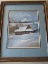 "Original Pastel Painting ""Zdiax"", Signed by E. Durkothowa 1984, Wooden Framed"