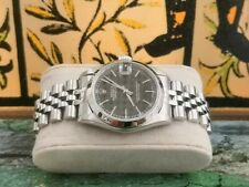 orologio rolex datejust 78240 full set black dial  box and papers