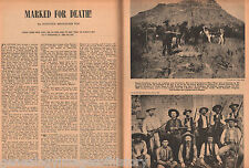 "Texas Ranger Lawman Joe Sitters -""Marked For Death"""